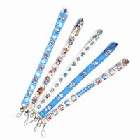 Cartoons Anime Cat Lanyard For Keychain ID Card Pass Gym Mobile Phone USB Badge Holder Key Ring Accessories