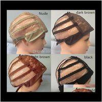Çift Yapışkan Dantel Peruk Kapaklar Peruk ve Saç Dokuma Streç Ayarlanabilir Peruk Kap 4 Renkler Dome Cap Peruk 10 adet Jnmuq F1dke
