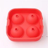 شريط ثلج كيوب صينية 4 ثقوب المجال ويسكي كوكتيل ices أنبوب العفن سيليكون الغذاء الصف المصاصة الكرة العفن EWE5503