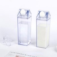 Mugs 500Ml Milk Carton Water Bottle Sports Square Juice With Christmas Stickers Outdoor Tour Camping Drinking Cup