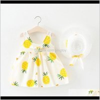 Baby Baby, & Maternitybaby Girl Born Toddler Girls Summer Kids Princess Dresses Sundress Hats 2Pcs Clothing Set Sunsuit1 Drop Delivery 2021 I