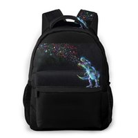 حقيبة المرأة الأزياء الذكور سفر رجالي حقيبة كمبيوتر محمول التسوق ريكس ينبعث من قوس قزح حزب البريق في الفضاء
