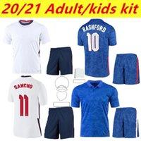 Tailandia Men + Kids Kit2021 Angleterre Jerseys de fútbol PRE PARTE PER PARTE PERSONO Concepto Negro Inicio Dele Dele Rashford Sancho Sterling Kane Camisetas De Fútbol Entrenamiento Red 20 21