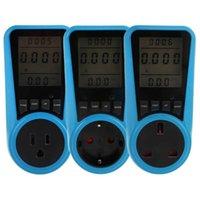 Plugues de alimentação inteligente Voltagem digital Wattmeter consumo de waenergy medidor KWh AC230VAC120V UE UK BRITÂNICO Plug analisador de electricidade