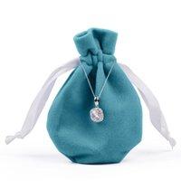 Malas de jóias, sacos OULLV Bolsa de veludo presente com cordão de seda anel de seda brinco bracelete empacotamento organizador saco em casa viajar