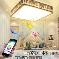 Ceiling Lights Modern Bluetooth Speaker Light Remote Control RGB LED Music Lamp Dimmable Living Room Lighting Fixture Bedroom Smart