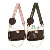 Novos sacos de ombro Três peça conjunto de bolsas clássicas bolsas de mulheres saco de couro messenger bolsa de mensageiro saco de corpo saco de corpo senhora bolsa moda fashion fashion buckack com caixa
