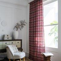 1.5m largura boêmio estilo étnico blackout cortina sala de estar meia sombra tassel bay janela cortinas