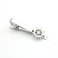 Hombre Rudder Tie Pins Material de cobre Color de plata 1pcs