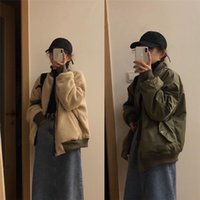 Women's Wool & Blends Winter Lambs Cardigan Coat Women Wear Both Sides Thickening Cotton Jacket Korean Solid Casual Fashion Outwear Female