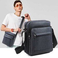 Shoulder Bag Messenger Crossbody Bag For Men Handbag Male Vintage Canvas Shoulder Crossbody Bags Black Travel Mens Bags