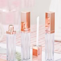 5ML DIY Lipgloss Plastic Box Packing Bottles Containers Empty Rose Gold Lipgloses Tube Eyeliner Eyelash Container Mini Lip CCF8877