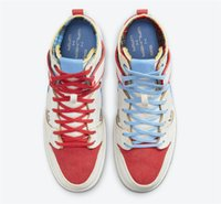 2021 Authentisches Ishod Wair x Magnus Walker X Dunk High PRO SB Urban Outdoor Schuhe Männer Frauen 277 Rot Blau Weiß Sport Turnschuhe mit Original Box DH7683-100