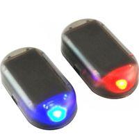 스트로브 신호 보안 시스템 유니버셜 플래시 경고 LED 가벼운 알람 램프 자동차 태양열 시뮬레이션 가짜 도난 방지주의