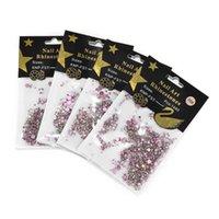 Nail Art Décorations rondes Décor Craft Accessoires de bricolage 4 Packs Mini Cristaux Perles Perles Plat Diamond Sequins Strass