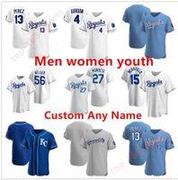 2021 Kansas City Männer Frauen Jugend Baseball Trikots Royals Jorge Soler Whit Merrifield Jackson Danny Duffy Nicky Lopez Ryan Ian Kennedy Keller Urena