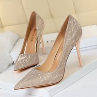 Scarpe tacchi alti europei e americani Scarpe da donna Stilotto Stiletto Bocca a punta Sexy Sexy Slim Nightclub Singola scarpa da sposa