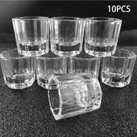 Nail Art Kits 10pcs Transparent Glass Bowl Cups Manicure Salon Tools Acrylic Powder Container Equipment Supply DIY For Women
