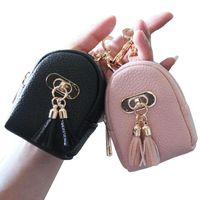 Coin Purses Cute Mini Women Wallets Lady Purse Bags Zipper Buckle Tassels Money Cards Keys Bag Good Quality Woman Keychain Wallet