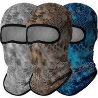 Cycling Caps & Masks Python Multicam Bandana Scarf Military Balaclava Face Shield Hunting Army Biker Half Mask Tactical CS Wargame Cap Men