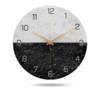 Wall Clocks Nordic Clock Creative Living Room Mute Personality Metal Quartz Modern Minimalist Light Luxury Fashion Home