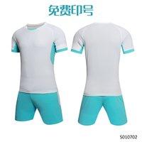 Men Adult soccer jersey short sleeve soccer shirts football uniforms shirt+shorts --S070102-2-2