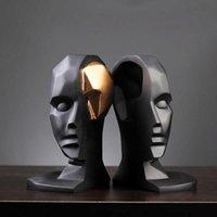 Креативный мозговой штурм широко открытая статуя смола персонажа скульптура абстрактная смола ремесло подарок фигурка дома украшения аксессуары T200619