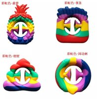 Rainbow Party Small Gift Anti-stress Finger Silicone Grip For Relieving Irritability And Pressure Adult And Children Toys