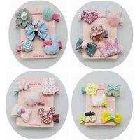 Pins Koreli çocuk headdress hediye seti bebek kız çiçek taç tam paket saç tokası