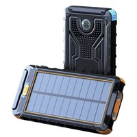 بنك الطاقة الشمسية للماء 80000 مللي أمبير شاحن للطاقة الشمسية منفذ USB شاحن خارجي ل فون البنك الذكي قوة البنك مع ضوء الصمام