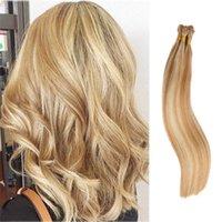 Pré-lié I extension Fusion Stick Tip Remy Cheveux Human Cheveux Invisible Kératin Glue Golden Blanchis Blonde