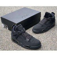 4 القط الأسود جودة عالية الأحذية النسخة SE NEON 4S UNC الرجال أحذية كرة السلة بدون صندوق مقاس 40-47 أحذية رياضية