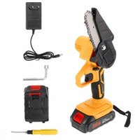 Power Tool Sets 550W Rechargeable Cordless Electric Chain Saw Mini Portable Handheld Chainsaw Rotary For Cutting Woodworking Logging