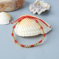 Tennis KELITCH Gold Metal Beads Weave Bracelets Jewelry Women Charm Bangles Handmade Strand Wrap Chain Adjustable