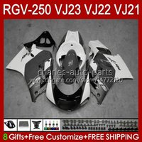 Carrosseries voor SUZUKI RGVT RGV 250 CC VJ23 Grijs Wit Voorraad RVG250 250cc Cowling RGV-250CC Lichaam 107HC.152 RGVT-250 VJ 23 1997 1998 RGV-250 Panel RGV250 SAPC 97 98 OEM FACKING