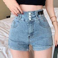 Women's Jeans Design Washed Three-point Denim Shorts Ladies Trend 2021 Spring And Summer Side Waist