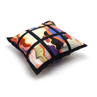 9 Panel Kissenbezug Sublimation Kissenbezug schwarz Gitter Gewebtes Polyester Wärmeübertragung Defofa Kissenbezüge 40 * 40 cm zze5012