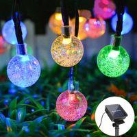 Lawn Lamps Home Outdoor Solar LED Garden Light 6M 30 Leds Crystal Ball String Lights Wall Floor Street Fence Night Decor Lamp