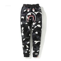 Pants Trousers Beii & Ape Tide Brand Shark Print Luminous Camouflage Pattern Leisure Trend Personalized Children's