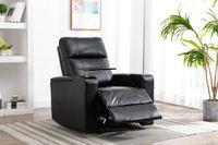 """US Warehouse Bedroom Mobiliário 39 """"Wide Faux Leather Power Receiner Casa Teatro Início Assento individual com porta-copos"""
