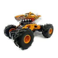 USB charging RC Cars 2.4G four-way shark off-road vehicle induction transformation sharks electric remote control car children's toy