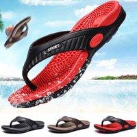 Saxace الصيف أزياء الرجال تدليك النعال كبيرة الحجم غير زلة الوجه يتخبط للذكور 2020 أحدث أحذية الشاطئ الصنادل A8 M9OR #