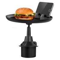 Tray Phone Car Mounts & Holders Cup Holder Adjustable Table Slot Auto Food Drink Rack Mobile Dining for Burgers French Fries