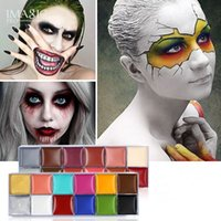 Imagic Human Face and Body Paint 12 Colors Oil Painting Halloween Theatrical Performance Dress Party Fancy COS Stage World Cup Art Cosmetic Make Up