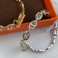 العلامة التجارية الساخنة للنساء إلكتروني جولة h قفل مجوهرات S925 الفضة الإسورة فرنسا جودة الأزياء الفاخرة سوار الفاخرة