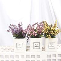 Artificial Beauty Tears Flower Small Bonsai Set Spray Decoration Square Potted Shop Decorative Flowers & Wreaths