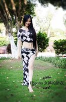 Ropa de baile de la danza del vientre de diseño único de la buena calidad para las mujeres / femenino / de la muchacha / de la señora del vientre del vientre Top + falda B02 desgaste de la etapa