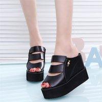 Lucyever Women Sandals Wedges Shoes for Woman High Heels Summer Flip Flop Chaussures Femme Platform 210610