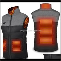 T-Shirts Wear Athletic Outdoor Apparel Sports & Outdoors Drop Delivery 2021 Jacket Winter Warm Heated Mens Womens Self Heating Vest Usb Elect