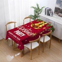 Avrupa Amerika Noel masa örtüsü baskı su emici masa örtüsü yemek masaları kapak ev dekor